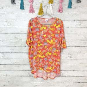 LuLaRoe Coral Floral Irma Tunic Size Small NWT